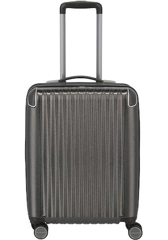 TITAN® Hartschalen-Trolley »BARBARA & TITAN®, Barbara Glint 55 cm, Anthrazit Metallic«, 4 Rollen, mit Dehnfalte kaufen