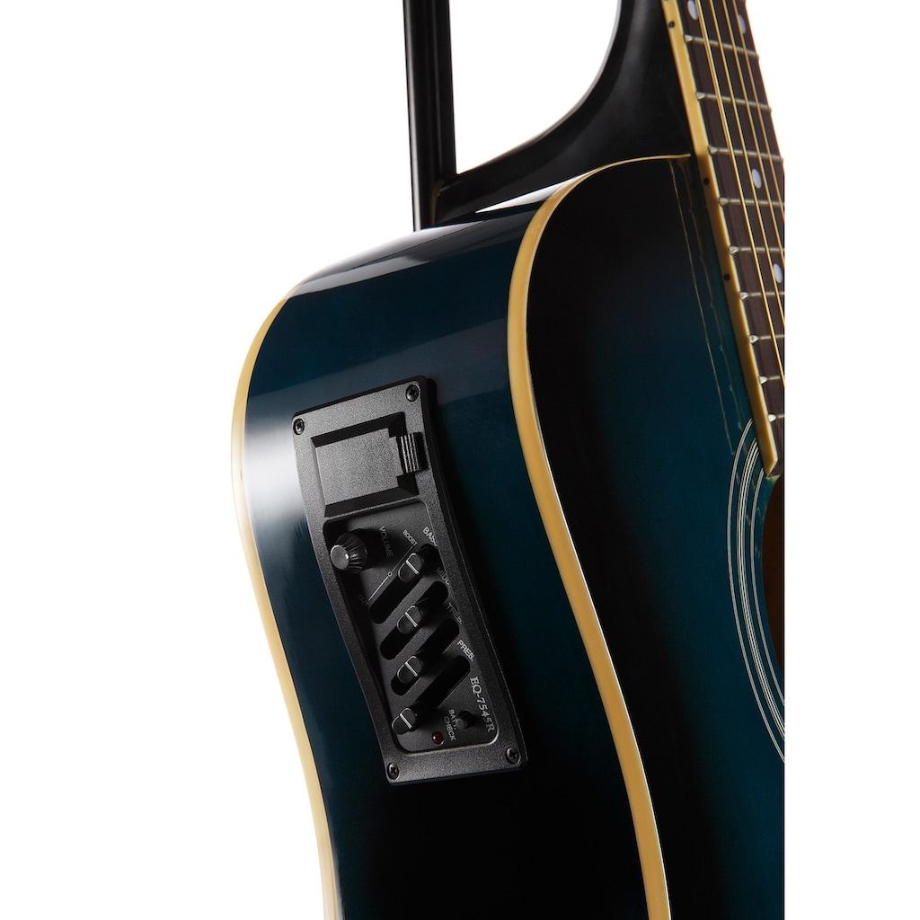Westerngitarre »4/4«, mit Equalizer und Zubehör