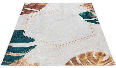 Sehrazat Teppich »Caimas 2992«, rechteckig, 5 mm Höhe, waschbar, weiche Microfaser, Wohnzimmer kaufen