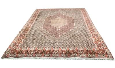 morgenland Wollteppich »Senneh Teppich handgeknüpft blau«, rechteckig, 12 mm Höhe kaufen