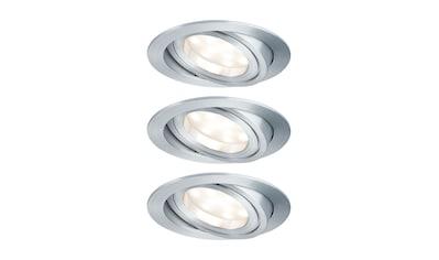 Paulmann LED Einbaustrahler »3er-Set Coin schwenkbar satiniert rund 6,8W Alu«, 3 St., Warmweiß kaufen