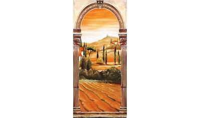 Papermoon Fototapete »Toscana - Türtapete«, matt, Vlies, 2 Bahnen, 90 x 200 cm kaufen