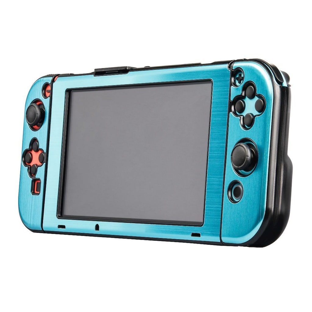 Hama Hardcover für Nintendo Switch, 3-teilig, Metallic-Blau