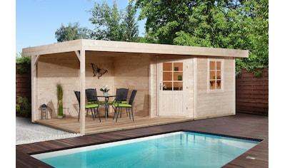 WEKA Set: Gartenhaus »Stellan 2«, BxT: 646x338 cm, mit Anbaudach kaufen