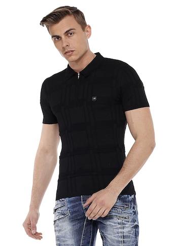 Cipo & Baxx Poloshirt, in tollem Strick-Design kaufen