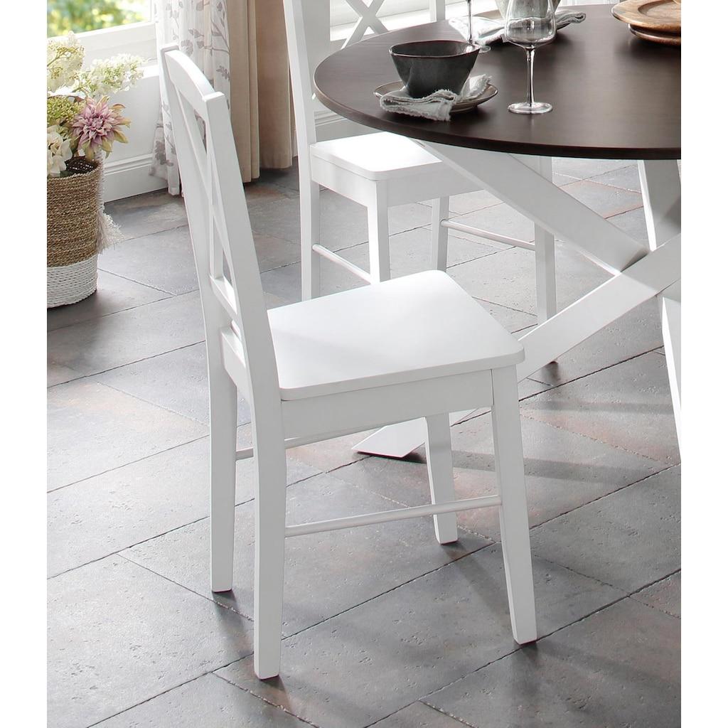 Home affaire Esszimmerstuhl »Sonoma«, aus massivem Kiefernholzgestell, angenehmer Sitzkomfort, Sitzhöhe 47 cm