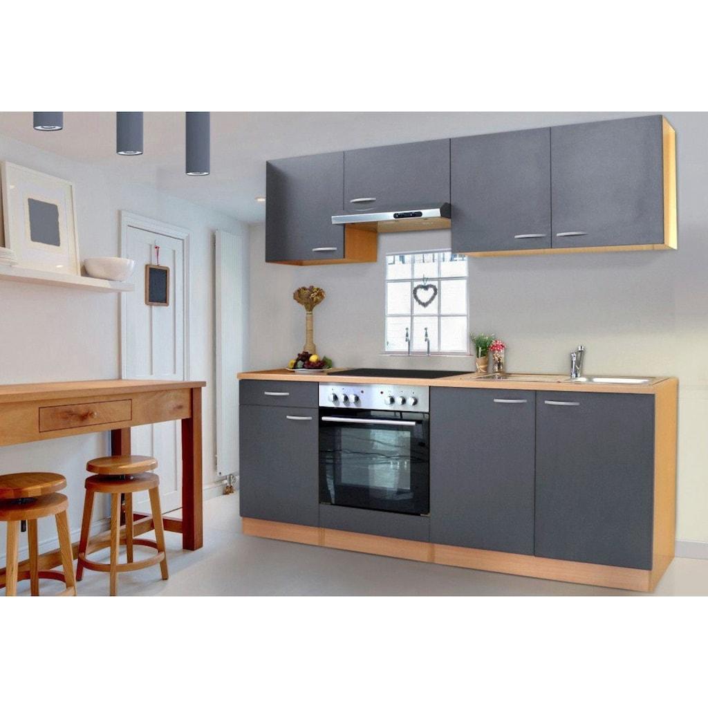 RESPEKTA Küchenzeile »Basic«, mit Glaskeramik-Kochfeld, Breite 210 cm