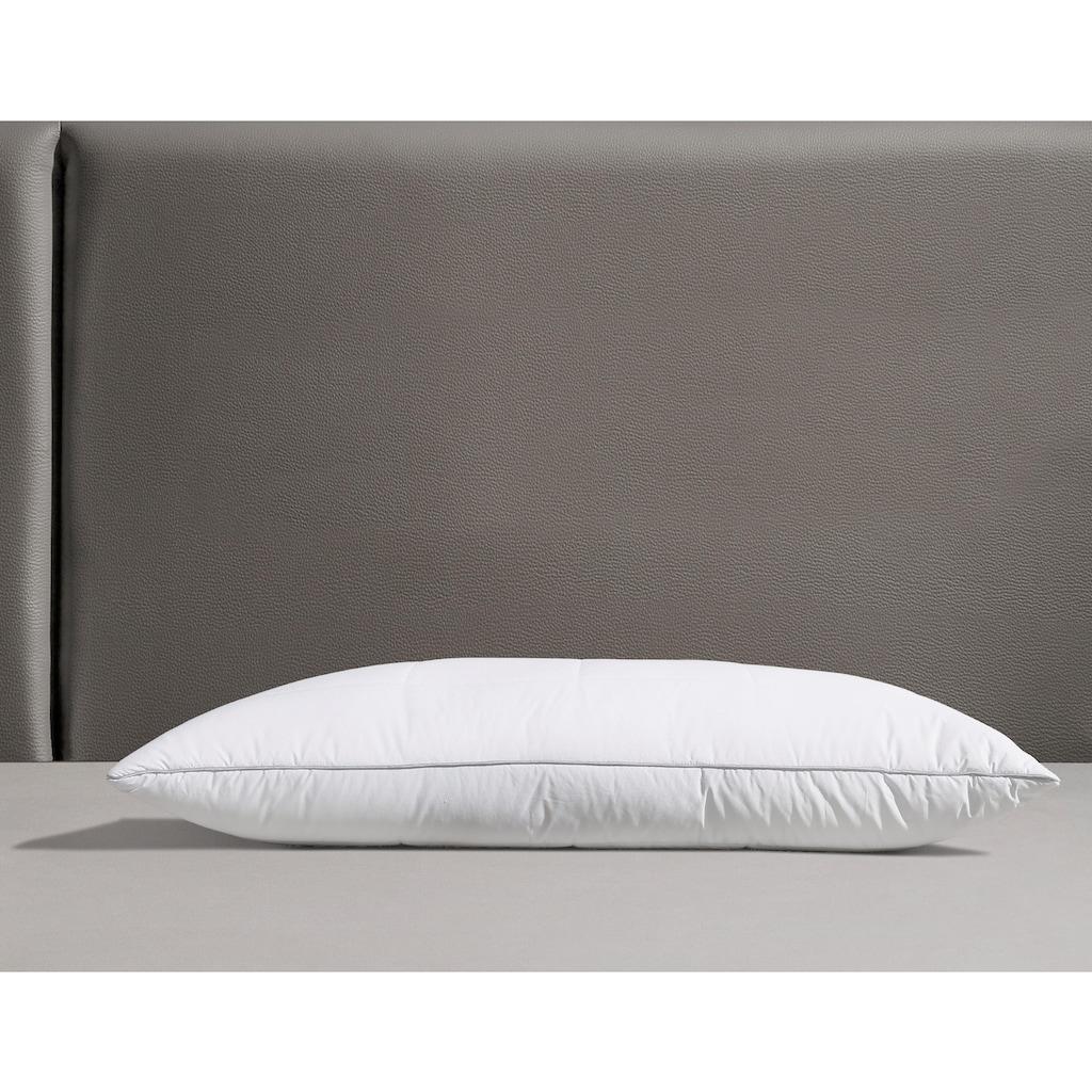 RIBECO Microfaserkissen »Isabel«, Füllung: Polyester, Bezug: Polyester, (1 St.), Luxus Daunenfeeling mit natürlichem Milbenschutz!