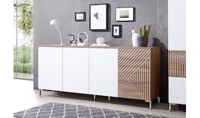 INOSIGN Sideboard »Greta«, mit schönen Fräsungen auf den Schubladenfronten, Breite 195 cm kaufen