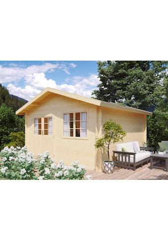 Kiehn - Holz Set: Gartenhaus »Gipsberg 2«, BxT: 437x432 cm, Fensterläden, Blumenkasten + Fußboden kaufen