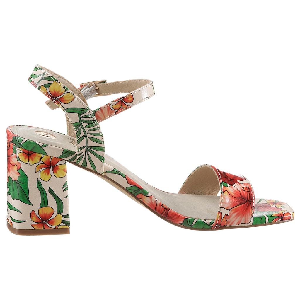 La Strada Sandalette, mit sommerlichem Blütenprint