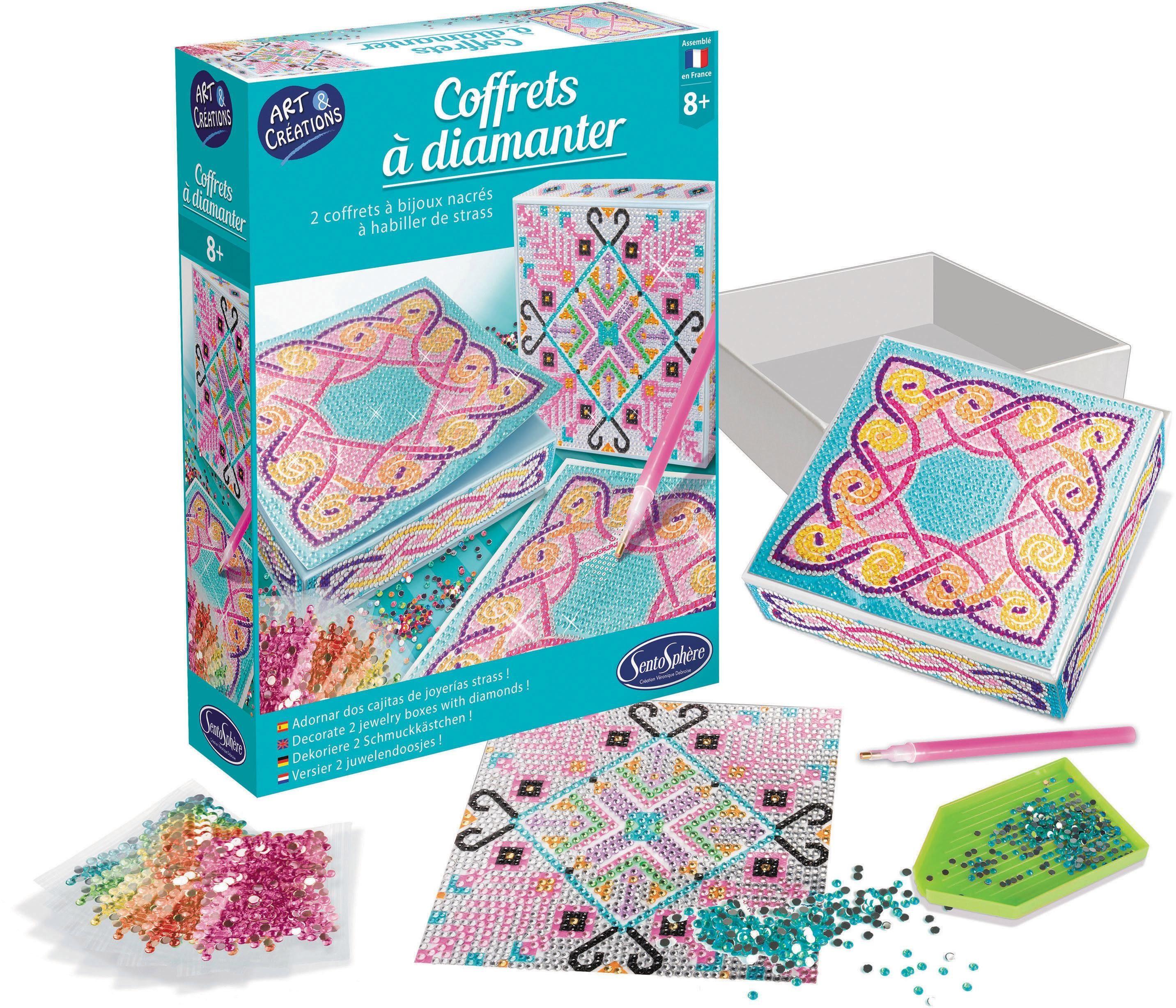 "SentoSphere Kreativset ""Diamanten-Schatulle"" (Set) Kindermode/Spielzeug/Basteln, Malen, Kosmetik & Schmuck/Bastelbedarf & -techniken"