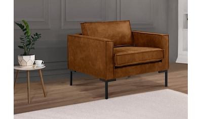 Leonique Sessel »Drace«, mit großzügiger Sitzfläche, im geradlinigen Design kaufen