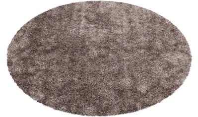 Bruno Banani Hochflor-Teppich »Alga«, rund, 40 mm Höhe, Wohnzimmer kaufen