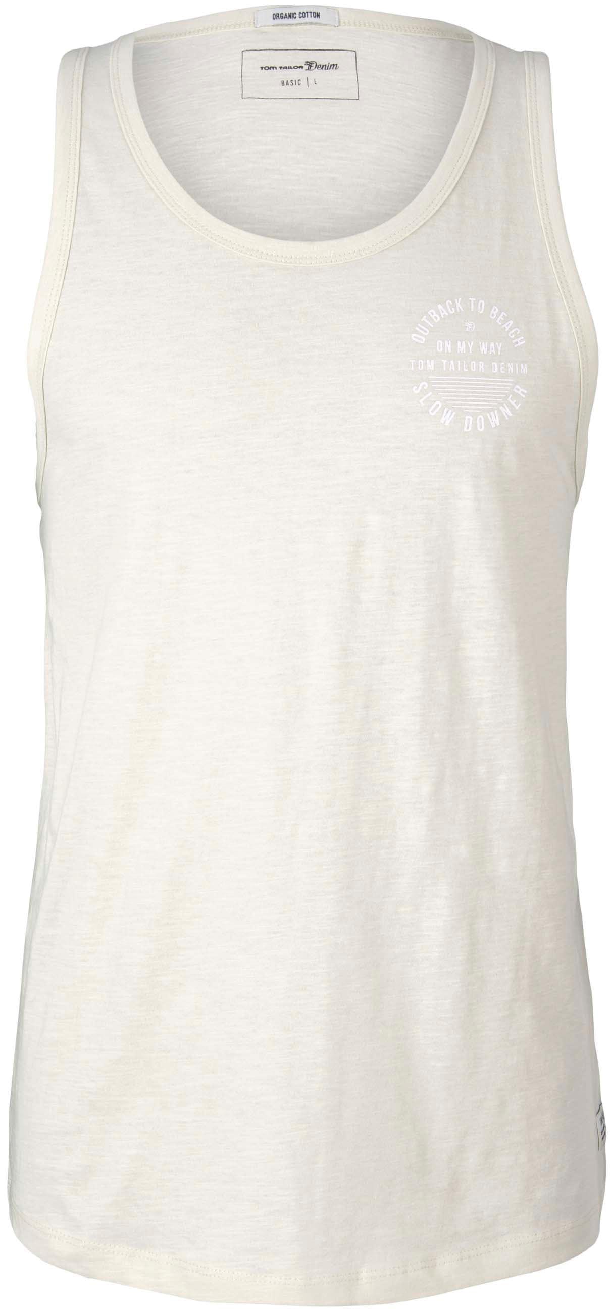 tom tailor denim -  Muskelshirt, mit großem Logo-Print auf der Brust