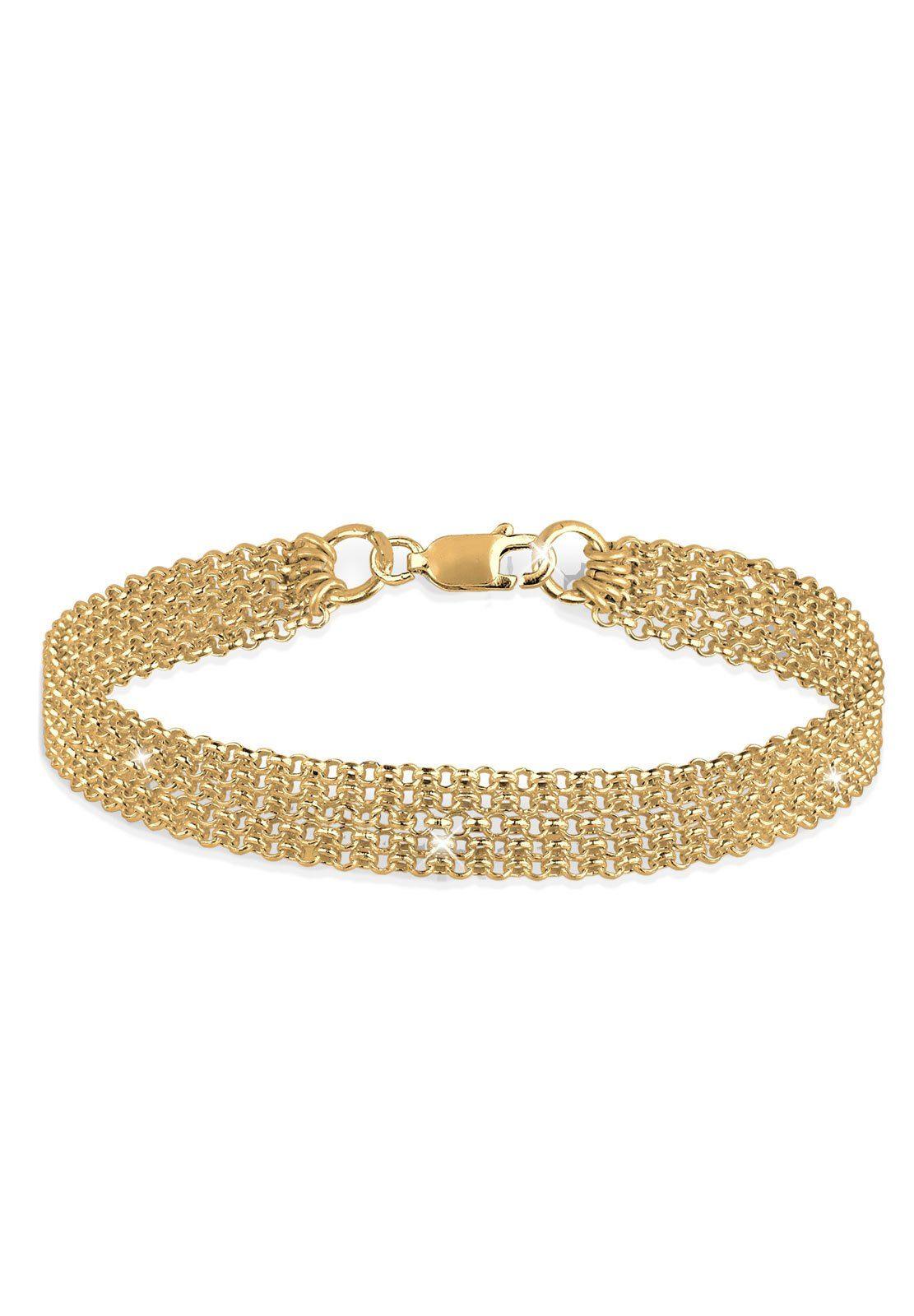 Elli Armband 5-Lagig 925 Sterling Silber vergoldet | Schmuck > Armbänder > Silberarmbänder | Elli