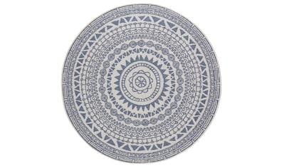 bougari Teppich »Coron«, rund, 5 mm Höhe, Wendeteppich, In- und Outdoor geeignet, Wohnzimmer kaufen