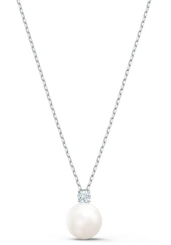 Swarovski Kette mit Anhänger »Treasure Pearl Halskette, weiss, rhodiniert, 5563288«, mit Swarovski® Kristall und Swarovski® Perle kaufen