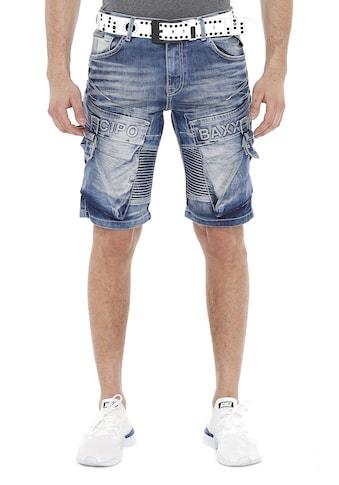 Cipo & Baxx Shorts, mit lässigem Rippenmuster kaufen