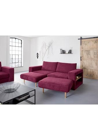 LOOKS by Wolfgang Joop 4-Sitzer, Verwandlungssofa: aus Sofa wird Sofa mit 2 Hockern, mit Regalfunktion in beiden Armteilen kaufen