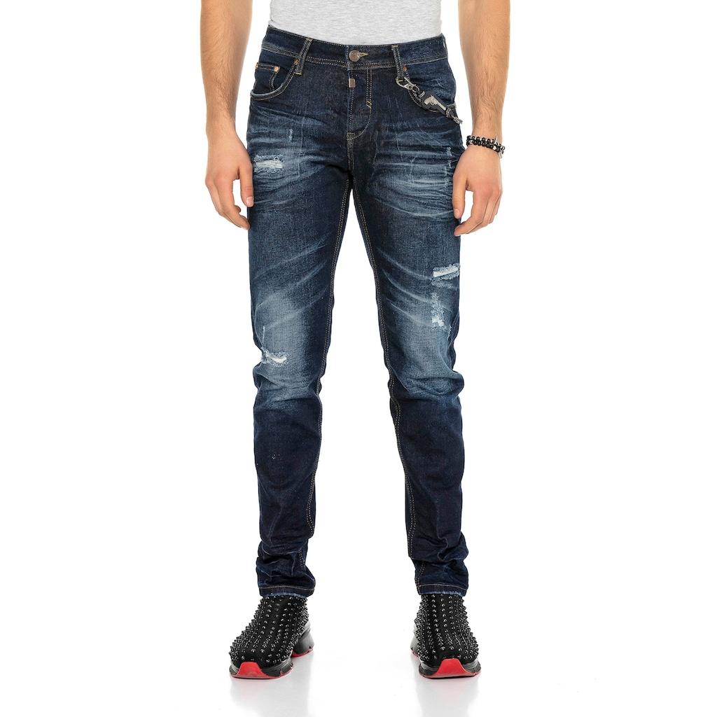Cipo & Baxx Slim-fit-Jeans, im Used Look