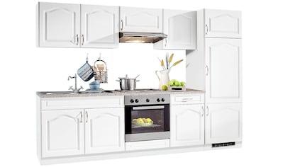 wiho Küchen Küchenzeile »Linz«, mit E-Geräten, Breite 270 cm, mit Edelstahl-Kochmulde kaufen
