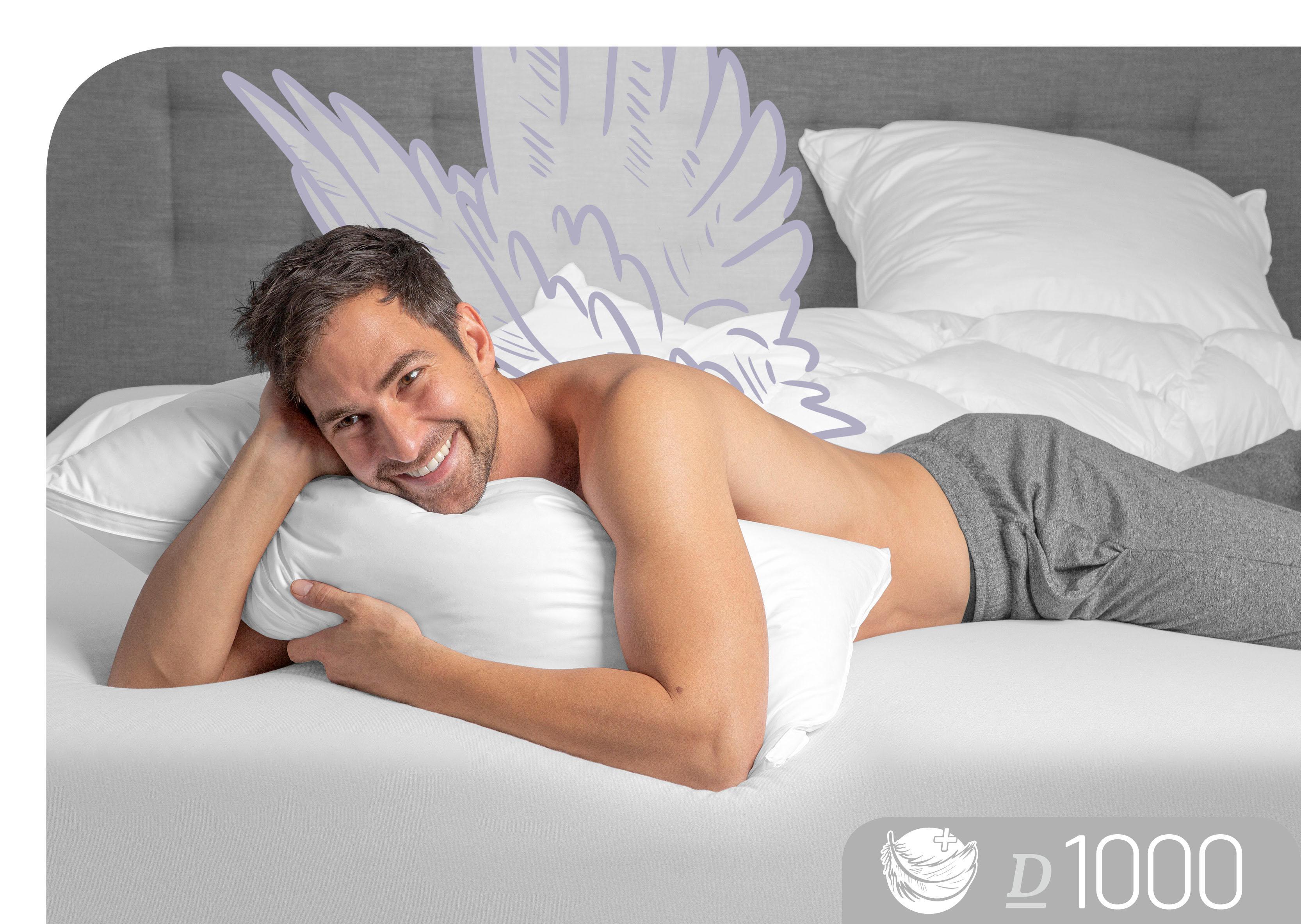 Daunenkissen D1000 Schlafstil Füllung: 100% Gänsedaunen