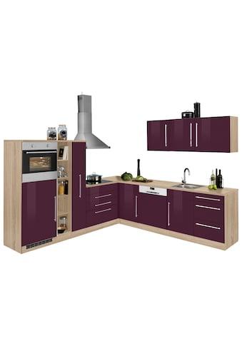 HELD MÖBEL Winkelküche »Samos«, ohne E - Geräte, Stellbreite 260 x 270 cm kaufen