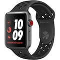 Apple Nike+ Series 3 GPS + Cellular, Aluminiumgehäuse mit Nike Sportarmband 38mm Watch (Watch OS 5)