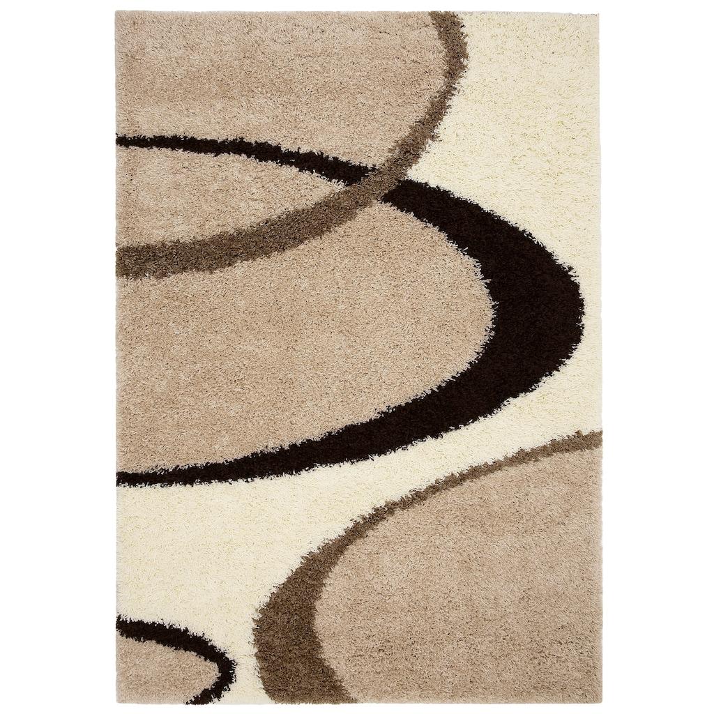 my home Hochflor-Teppich »Ankara«, rechteckig, 52 mm Höhe, weicher Flor, Wohnzimmer