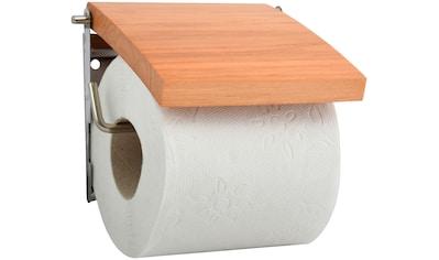 MSV Toilettenpapierhalter, mit Holzdeckel kaufen
