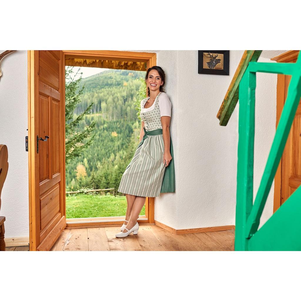 Love Nature Dirndlbluse, Kurzarm mit Knopfverschluss - Made in Austria