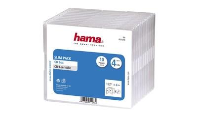 Hama CD - Leerhülle Slim Pack 4, 10er - Pack, Transparent kaufen