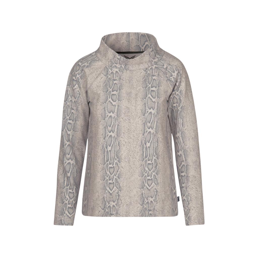 Trigema Raglan-Shirt mit modischem Kragen