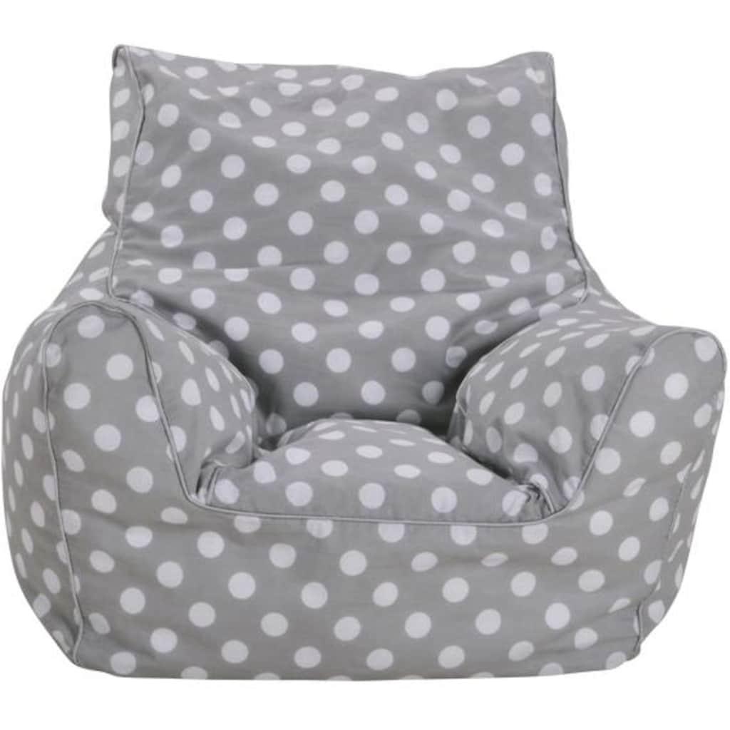 Knorrtoys® Sitzsack »Dots, grey«, für Kinder; Made in Europe