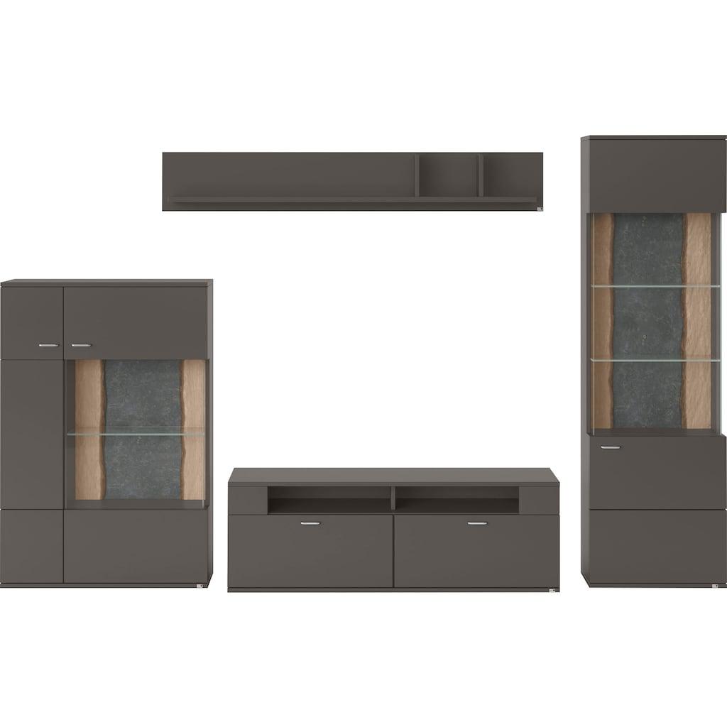 set one by Musterring Wohnwand »TACOMA«, (Set, 4 St.), Typ 52, mit Wandboard