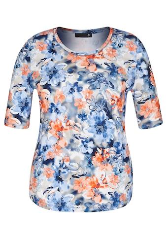 Thomas Rabe Rundhalsshirt, mit floralem Alloverdruck kaufen