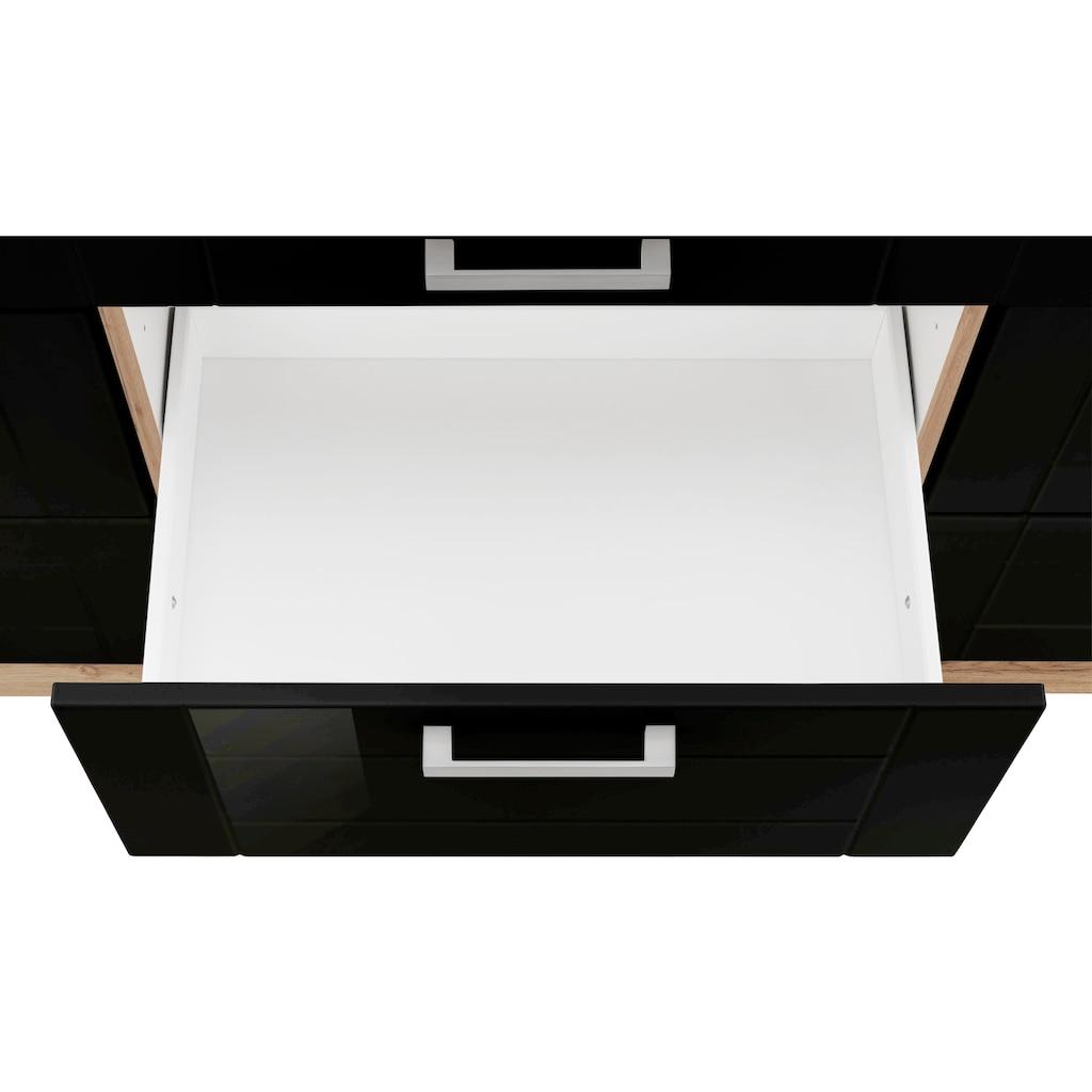 HELD MÖBEL Unterschrank »Tinnum«, 180 cm breit, Metallgriffe, MDF Fronten, mit 3 Schubkästen und 6 Auszügen, für viel Stauraum auch als Sideboard nutzbar