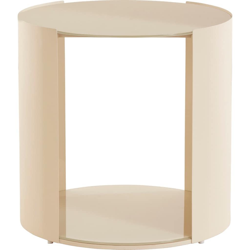 LeGer Home by Lena Gercke Beistelltisch »Ivy«, 0,6 cm starke Tischplatte, offenes Fach