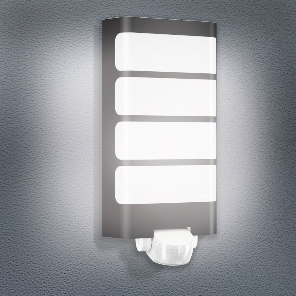 steinel Außen-Wandleuchte »L 244 LED«, LED-Board, 1 St., Warmweiß, 180° Erfassungsbereich