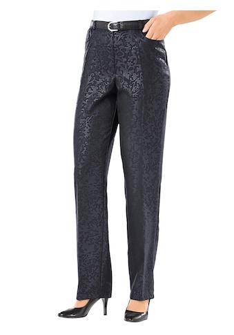 Classic Basics Hose mit extravagantem Prägedruck kaufen