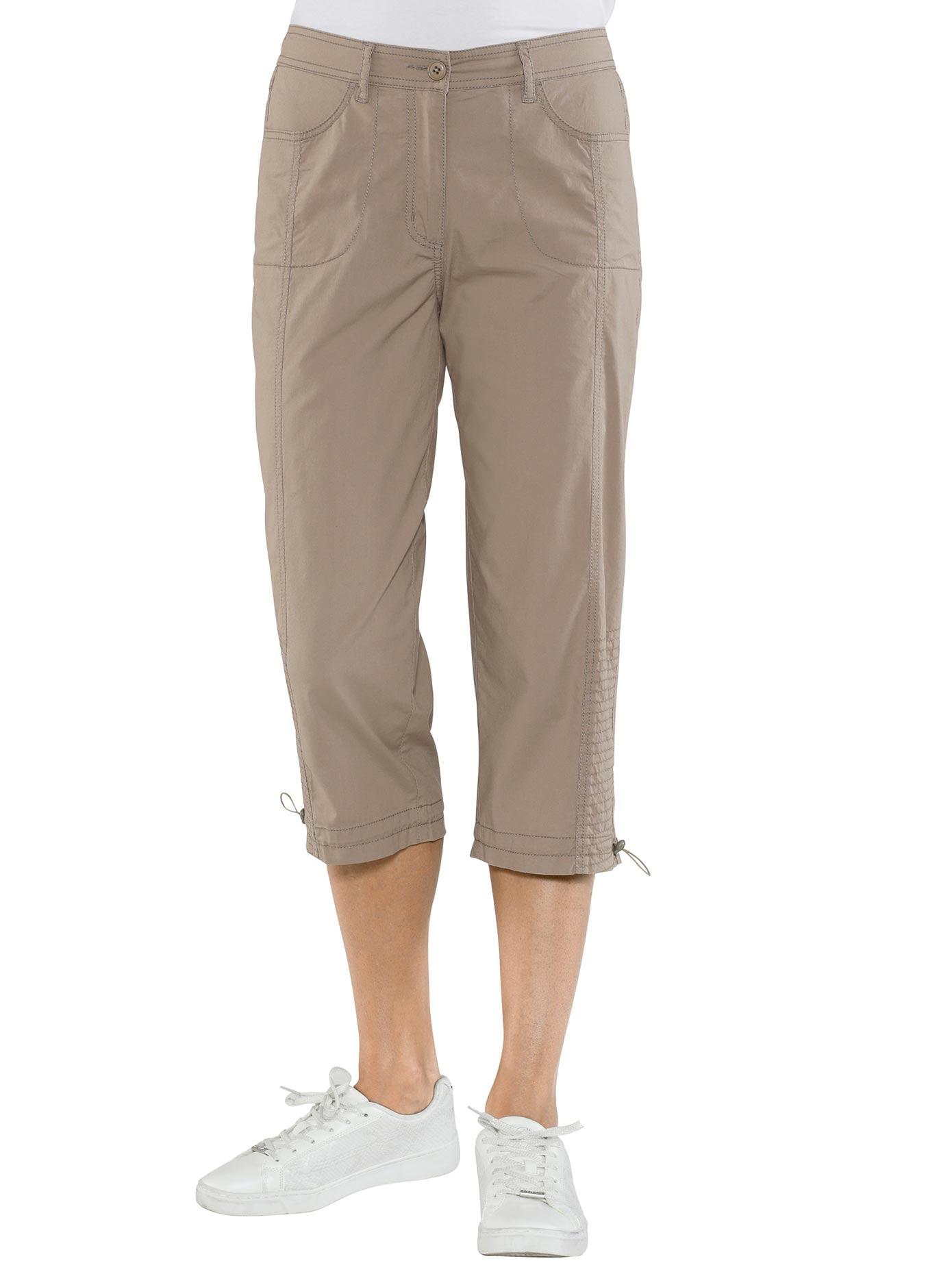 Casual Looks Capri-Hose mit rückwärtigem Dehnbund | Bekleidung > Hosen > Caprihosen | Braun | Casual Looks