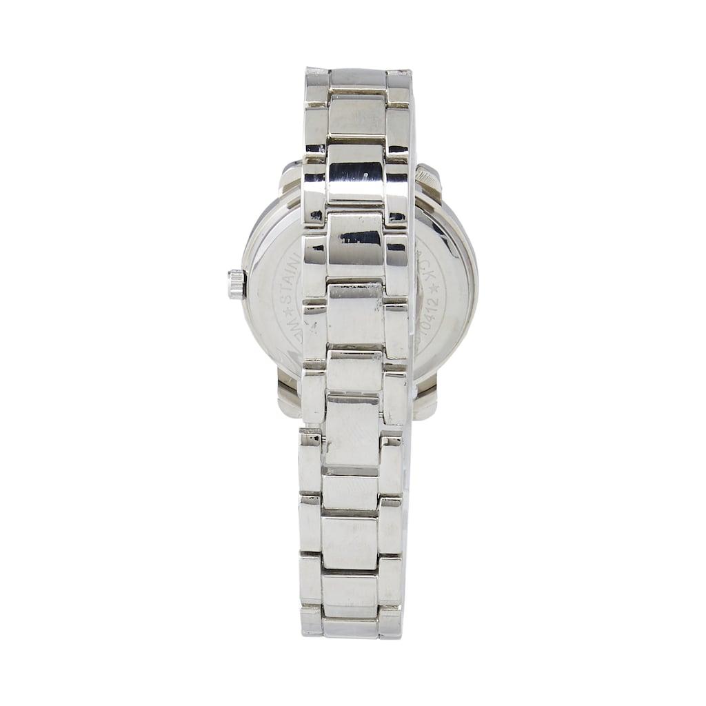 Armbanduhr mit gefassten Glassteinen