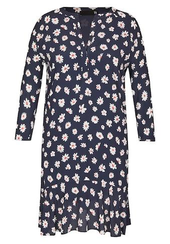 Thomas Rabe Kleid mit Blümchen-Print und Raffungen kaufen
