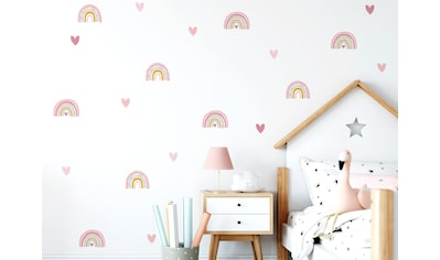little DECO Wandtattoo »Little Deco Wandtattoo viele Regenbogen mit Herzen« kaufen