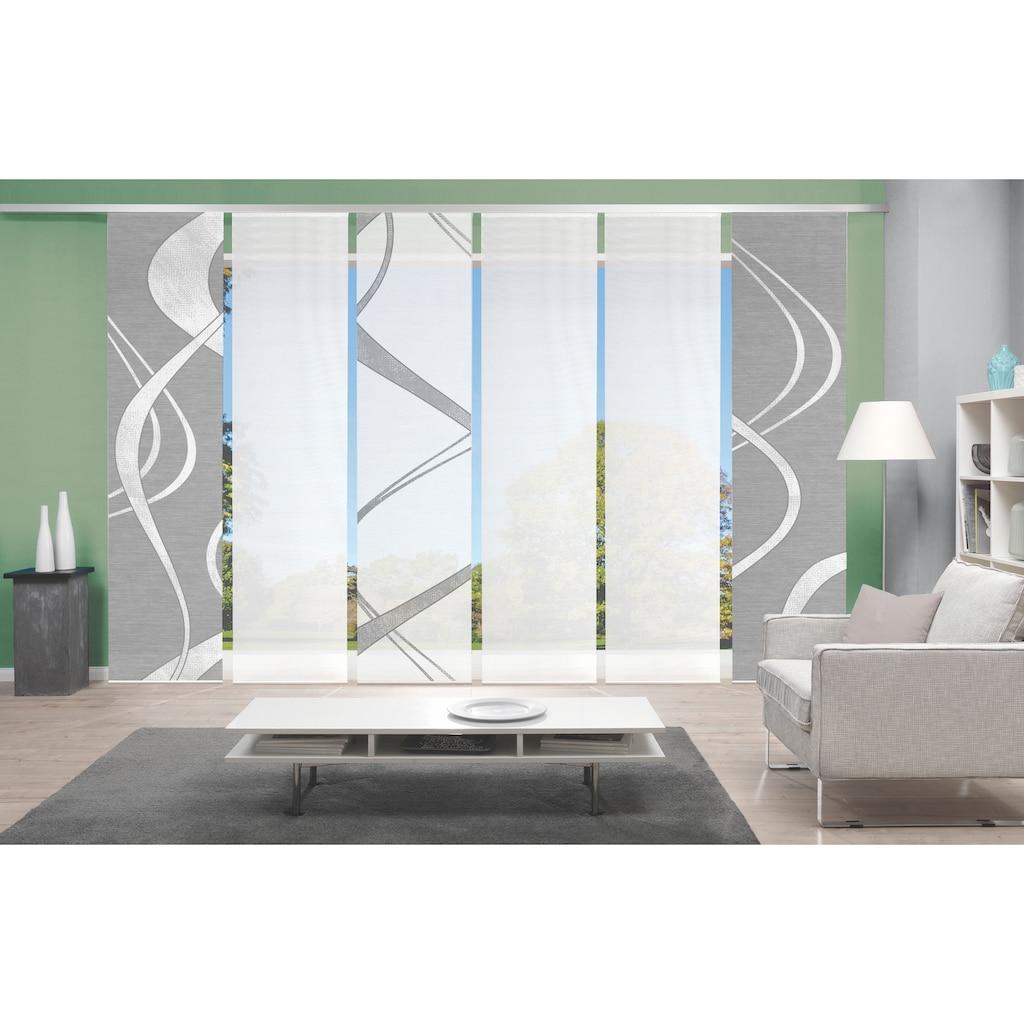 Vision Schiebegardine »TIBONO 6er SET«, Bambus-Optik, Digital bedruckt