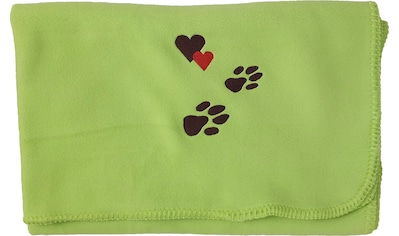 Kneer Wohndecke »Pfoten«, Fleecedecke für Mensch und Hund mit Stickerei kaufen
