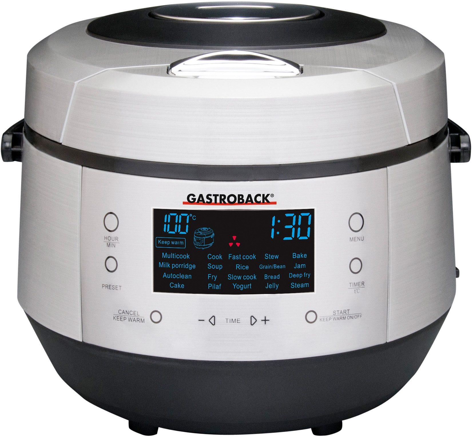 Gastroback Multikocher Design Multicook Plus 42526 950 Watt Schüssel 5 Liter