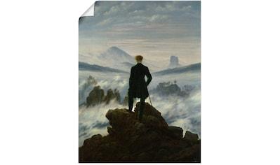 Artland Wandbild »Der Wanderer über dem Nebelmeer. Um 1818«, Mann, (1 St.) kaufen