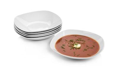 SÄNGER Tafelservice »Bilgola«, (6 tlg., Suppenteller-Set Bilgola aus Porzellan 6 teilig) kaufen